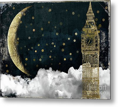Cloud Cities London Metal Print by Mindy Sommers
