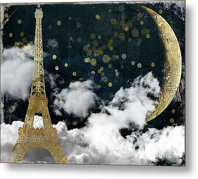 Cloud Cities Paris Metal Print by Mindy Sommers