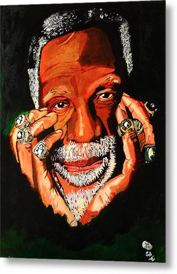Cloud Eleven - Bill Russell Metal Print by Saheed Fawehinmi