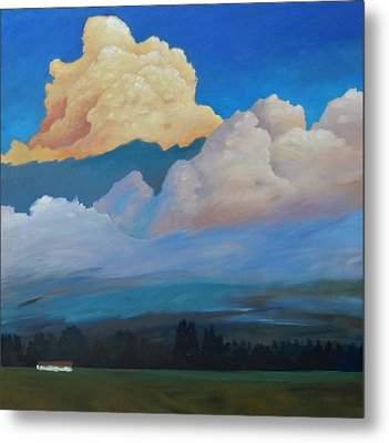 Metal Print featuring the painting Cloud On The Rise by Gary Coleman