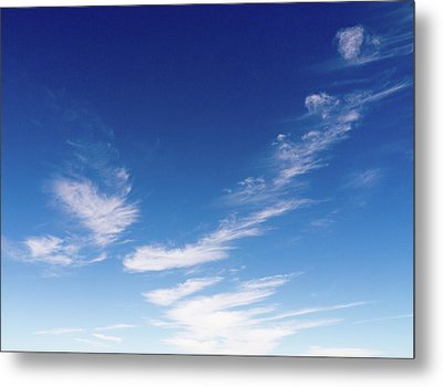 Cloud Sculpting Metal Print