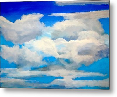 Cloud Study Metal Print by Donna Proctor