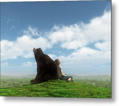 Cloud Watchers Metal Print