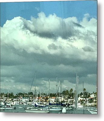Metal Print featuring the photograph Clouds On The Bay by Kim Nelson