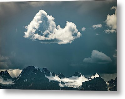 Metal Print featuring the photograph Clouds Over Glacier, Banff Np by William Lee