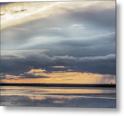 Clouds Over The Bottoms Metal Print