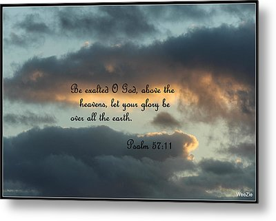 Clouds With Scripture Metal Print