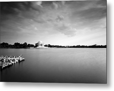 cloudscape and the Tidal Basin Metal Print