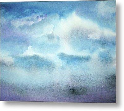 Metal Print featuring the painting Cloudscape by Ellen Levinson