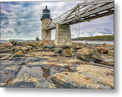 Cloudy Day At Marshall Point Metal Print by Rick Berk