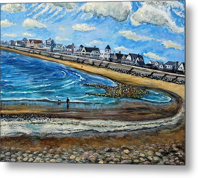Cloudy Day In Green Harbor  Metal Print by Rita Brown