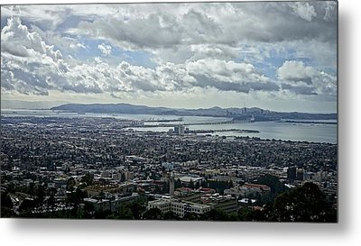 Cloudy Day Over The Bay Metal Print by Lennie Green