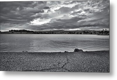 Cloudy East Bay Hills From The Bay Metal Print by Lennie Green