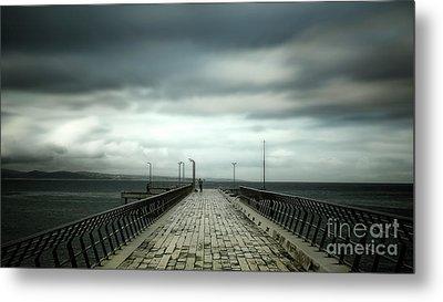 Metal Print featuring the photograph Cloudy Pier by Perry Webster
