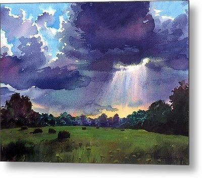 Cloudy Sky Metal Print by Sergey Zhiboedov