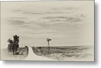 Cloudy Skys And Dirt Roads Metal Print by Wilma  Birdwell