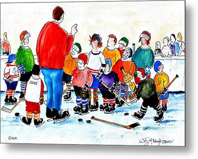 Coach Metal Print by Wilfred McOstrich