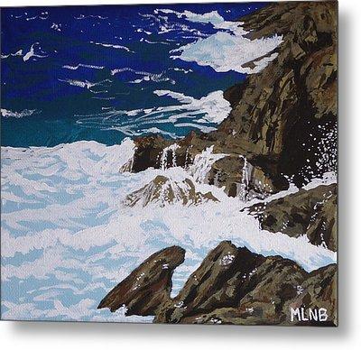 Coastal Falls Metal Print