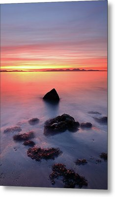 Metal Print featuring the photograph Coastal Sunset Kintyre by Grant Glendinning