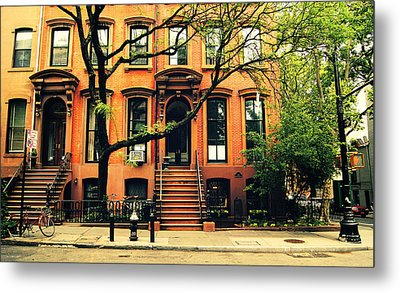 Cobble Hill Brownstones - Brooklyn - New York City Metal Print by Vivienne Gucwa