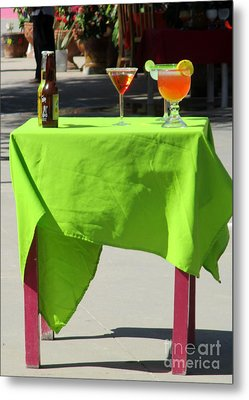 Cocktail Table Metal Print