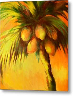 Coconuts At Sunrise Metal Print by Joann Shular
