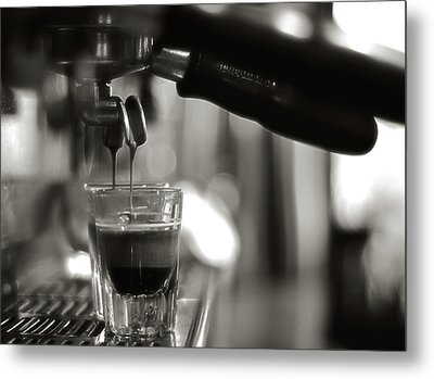 Coffee In Glass Metal Print