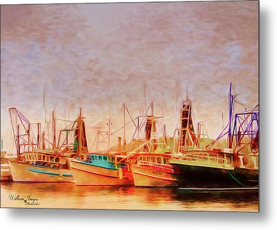 Metal Print featuring the photograph Coffs Harbour Fishing Trawlers by Wallaroo Images