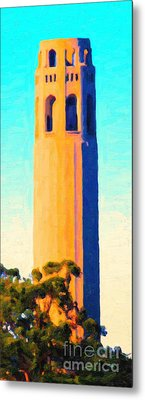 Coit Tower San Francisco Metal Print by Wingsdomain Art and Photography