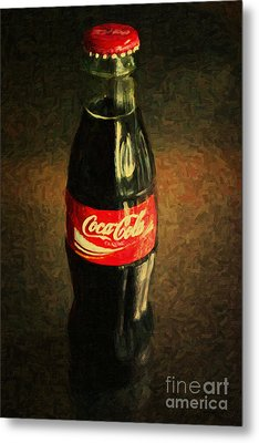 Coke Bottle Metal Print by Wingsdomain Art and Photography