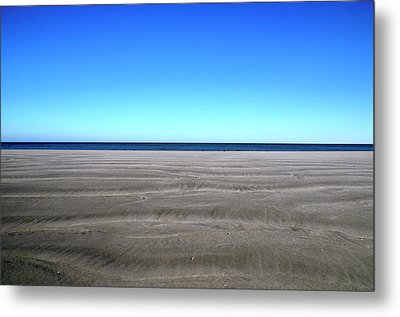 Cold Beach Day Metal Print