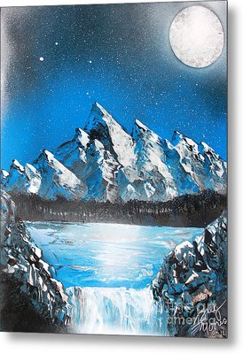 Metal Print featuring the painting Cold Blue by Greg Moores