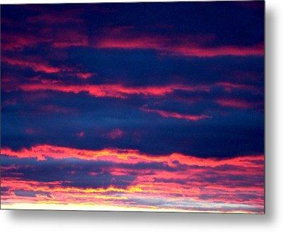 Cold Front Sunset One Metal Print by Ana Villaronga