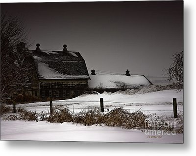 Cold Winter Night Metal Print by Edward Peterson