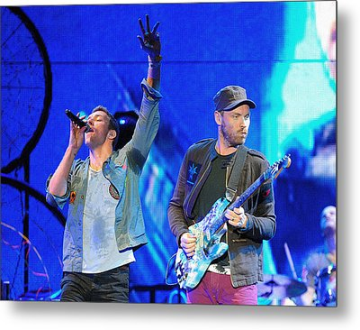 Coldplay6 Metal Print by Rafa Rivas