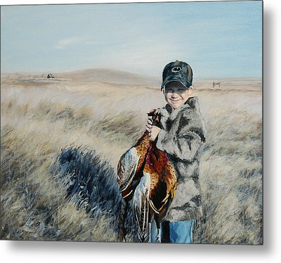 Cole's Pheasant Metal Print by Conny Riley