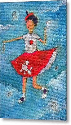 Colleen Dancing In Clouds Metal Print by Ricky Sencion