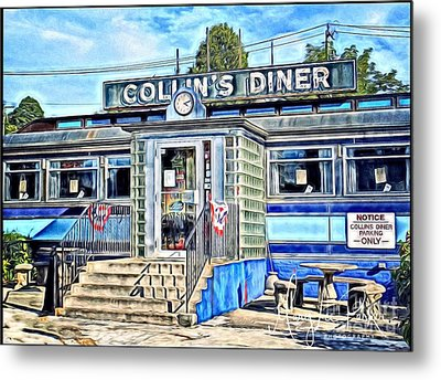 Collin's Diner New Canaan,conn Metal Print