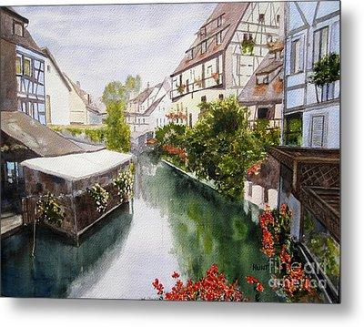 Colmar Canal Metal Print