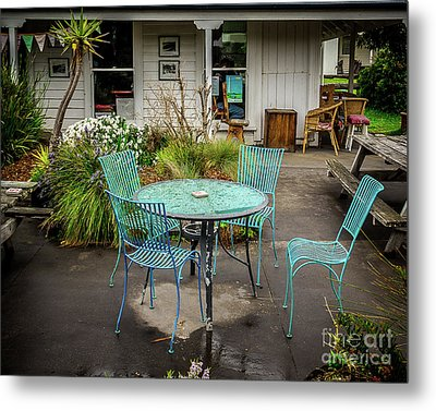 Metal Print featuring the photograph Color At Cafe by Perry Webster