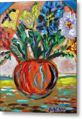 Metal Print featuring the painting Color Everywhere by Mary Carol Williams