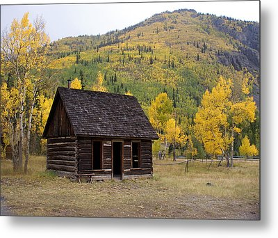 Colorado Cabin Metal Print by Marty Koch