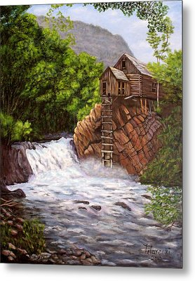 Metal Print featuring the painting Colorado Mill by Judy Filarecki