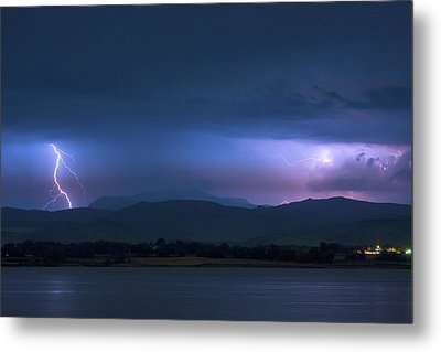 Metal Print featuring the photograph Colorado Rocky Mountain Foothills Storm by James BO Insogna