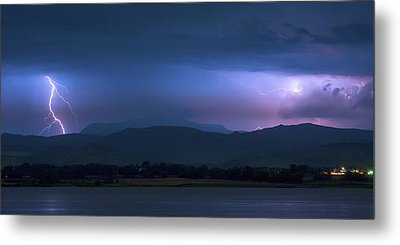 Metal Print featuring the photograph Colorado Rocky Mountain Foothills Storm Panorama by James BO Insogna