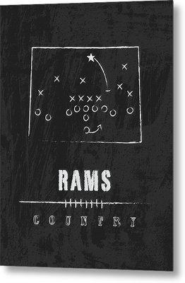 Colorado State Rams / Ncaa College Football Art / Fort Collins Metal Print by Damon Gray