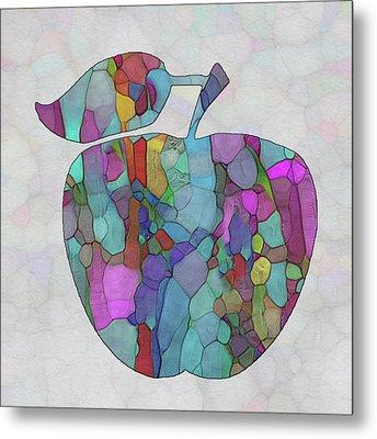 Colorful Apple Metal Print by Jack Zulli