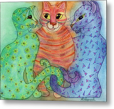 Colorful Cats Metal Print by Anne Havard