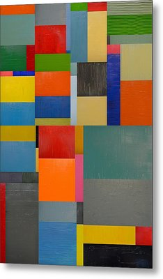 Colorful Collage 1.0 Metal Print by Michelle Calkins