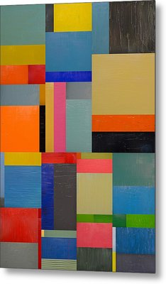 Colorful Collage 2.0 Metal Print by Michelle Calkins